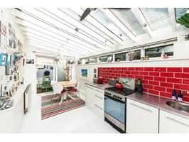 Open Plan Kitchen With Glass Roof