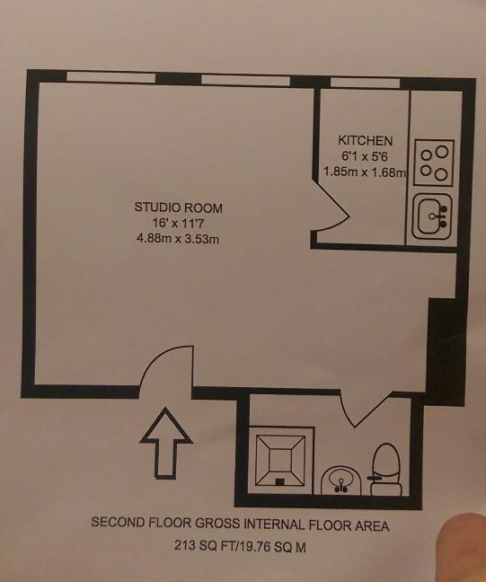 Studio Flat, Temple Fortune, NW11