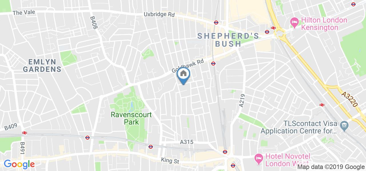 2 Bed Flat, Basement - 43 Benbow Road, W6